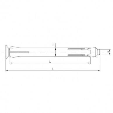 Ankeris metalinis langų ir durų rėmų tvirtinimui 2