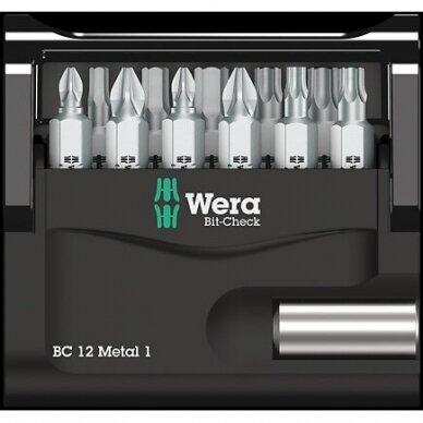 Antgalių rinkinys Bit-Check 12 Metal 1 WERA 2