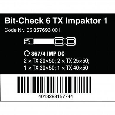 Antgalių rinkinys Bit-Check 6 TX Impaktor 1 WERA 3