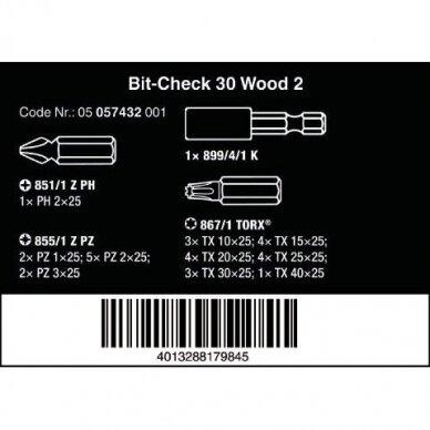 Antgalių rinkiys Bit-Check 30 Wood 2 WERA 3