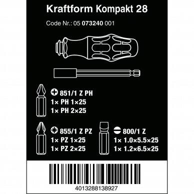 Atsuktuvas KRAFTFORM KOMPAKT 28 WERA 2