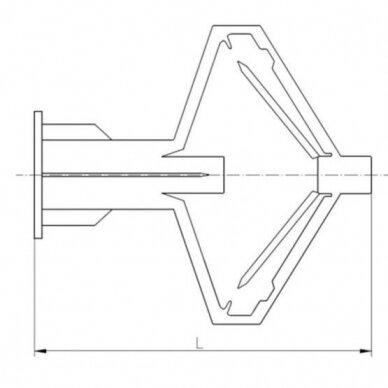 Kaištis tuščiavidurėms konstrukcijoms 3