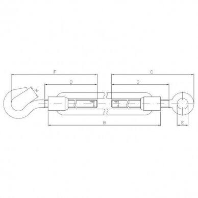 Lyno tempiklis kilpa-kablys DIN 1480 3