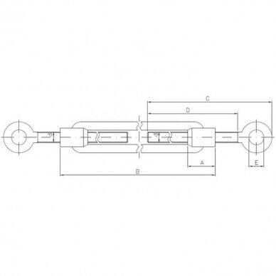 Lyno tempiklis kilpa-kilpa DIN 1480 4
