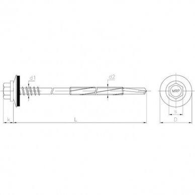 Savisriegis sandwitch plokščių tvirtinimui prie maks. 12 mm storio plieno 4