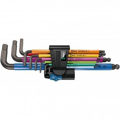 Šešiakampiu raktu komplektas 950/9 Hex-Plus Multicolour HF 1 WERA