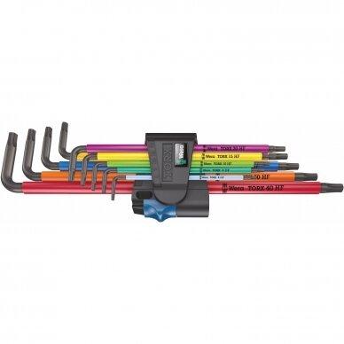 Torx raktu komplektas 967/9 TX XL Multicolour HF 1 WERA