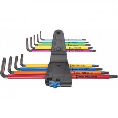 Torx raktu komplektas 967/9 TX XL Multicolour HF 1 WERA 2