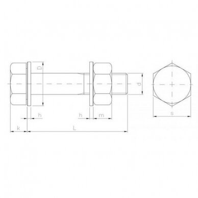 Konstrukcinis varžtas HV EN 14399 3