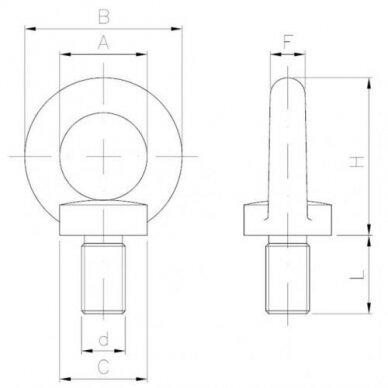 Varžtas-kilpa DIN 580 3