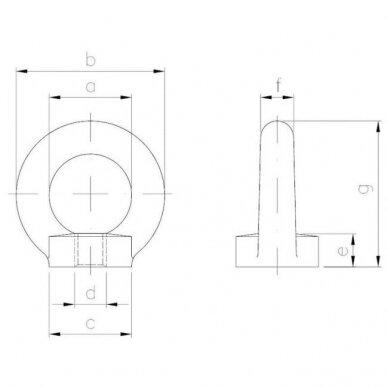 Veržlė-kilpa DIN 582 2