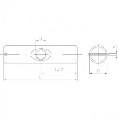 Veržlė plaktukinė simetrinė 3